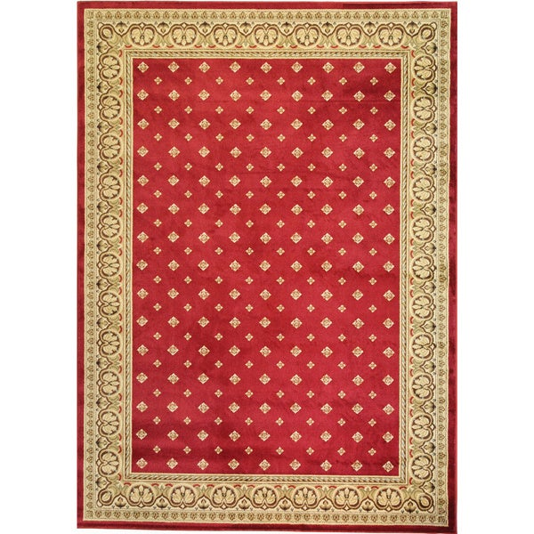 """Well Woven Dallas Transitional Border Red Area Rug - 9'3"""" x 12'6"""""""