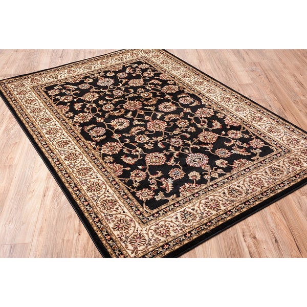 Well Woven Classic Persian Oriental Black Area Rug - 9'3 x 12'6