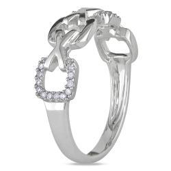 Miadora 10k White Gold 1/10ct TDW Diamond Fashion Ring (H-I, I2-I3)