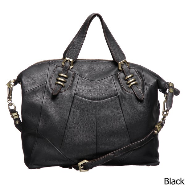 Oryany Pebbled Leather Satchel Bag Free Shipping Today