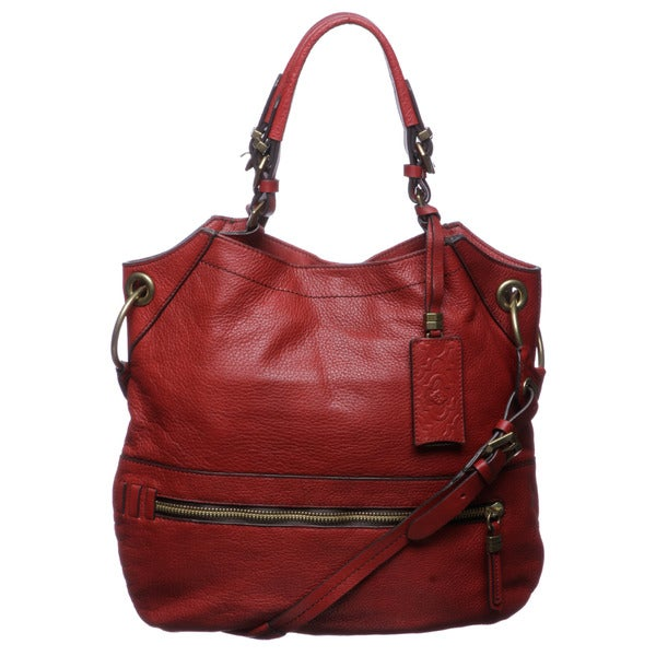 Oryany 'Sydney' Large Red Leather Shoulder Bag