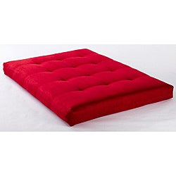 Clay Alder Home Ravenel Suede Red 8-inch Full-size Futon Mattress - Thumbnail 0