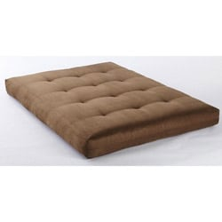 Somette Suede Olive VertiCoil Spring 8-inch Thick Full-size Futon Mattress