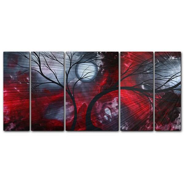 Overstock Wall Art megan duncanson 'crimson night' metal wall art - free shipping