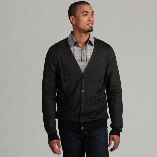 WT02 Men's Black Cardigan