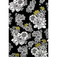 Alliyah Hand Made Black New Zealand Blended Wool Rug (5 x 8) - 8' x 10'