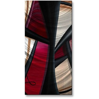 Jerry Clovis 'Wow and Red 1' Metal Wall Sculpture