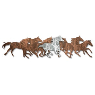 Ash Carl 'Wild Horses' Metal Wall Art