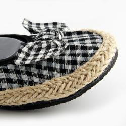 Fit In Clouds Women's Black Checkmates Flats - Thumbnail 1