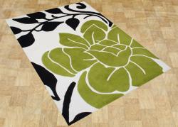 Alliyah Handmade Cloud Cream New Zealand Blend Wool Rug (5' x 8') - Thumbnail 1