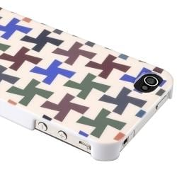 INSTEN Colorful Cross Phone Case Cover/ LCD Protector/ Headset Wrap for Apple iPhone 4S