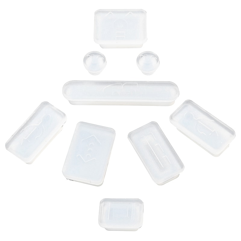 INSTEN Clear Anti-Dust Soft Silicone Plug Cap for Apple MacBook Pro (Set of 9)