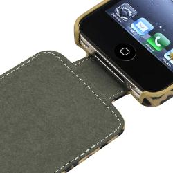 INSTEN Brown Leopard Phone Case Cover/ LCD Protector/ Headset Wrap for Apple iPhone 4S - Thumbnail 1