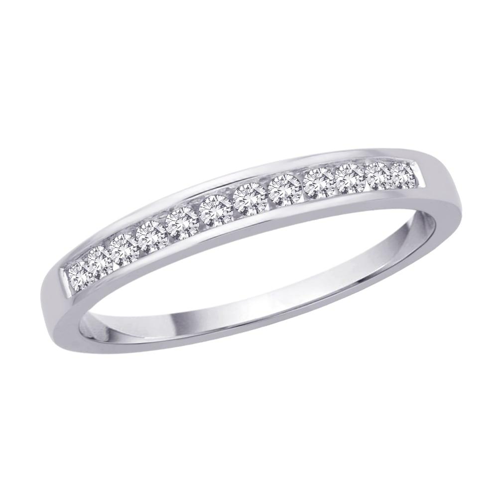 10k White Gold 1/5ct TDW Diamond Wedding Band (J-K, I2-I3)