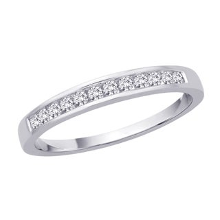 10k White Gold 1/5ct TDW Diamond Wedding Band (J-K, I2-I3)