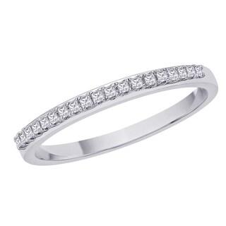 Sterling Silver 1/6ct TDW Diamond Wedding Eternity Band