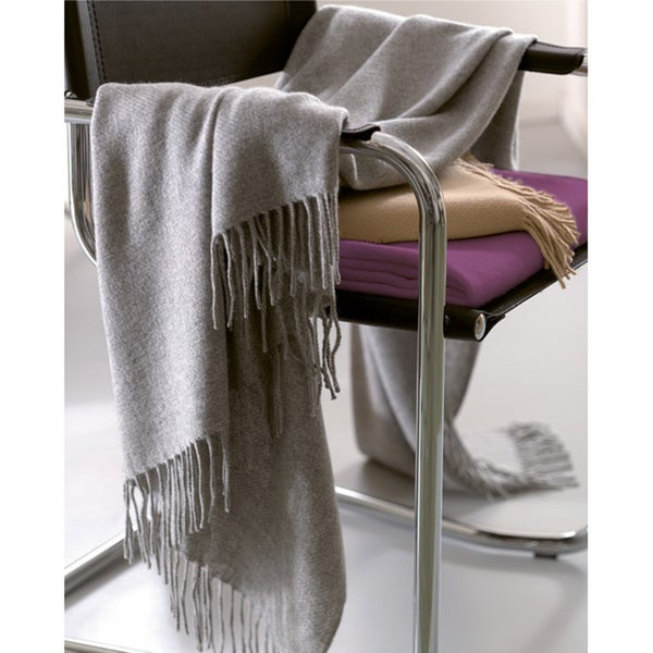 Tibet Jacquard-weave 100-percent Lamb's Wool Italian Fringed Throw