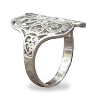 Handmade Sterling Silver 'Moonlight Lace' Ring (Thailand)