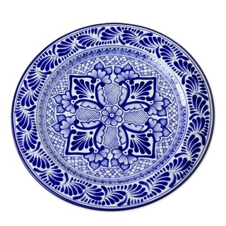 Talavera Ceramic 'Colonial Empress' Plate (Mexico)