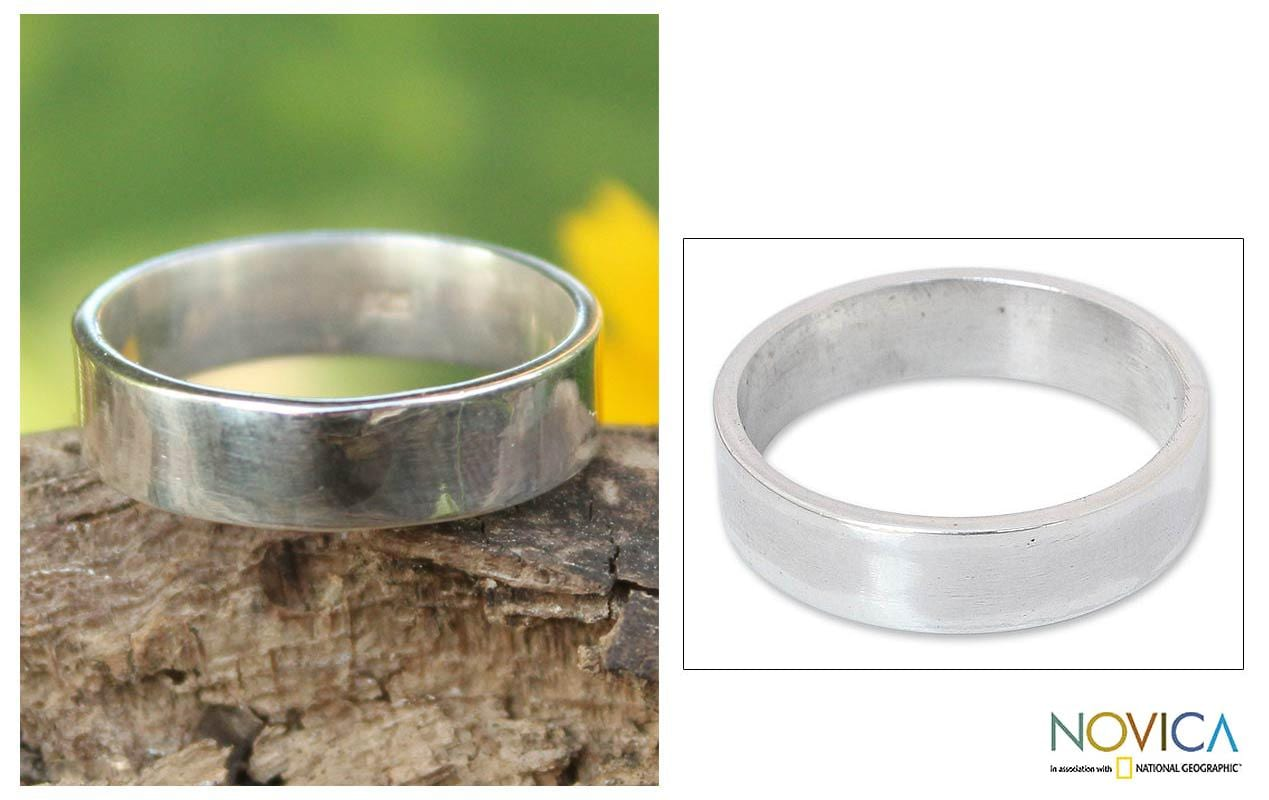 Handmade Sterling Silver 'Fidelity Trust' Ring (Thailand)