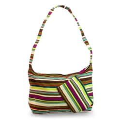 Cotton 'Colors of My Land' Medium Shoulder Bag (Guatemala)