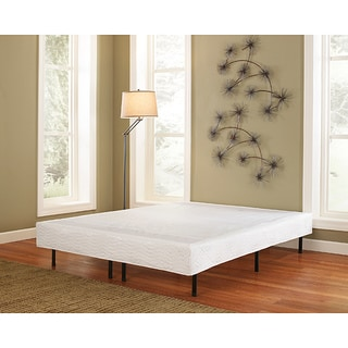 Sleep Sync Posture Lux Double 14-inch Platform Steel Frame Bed with Cover