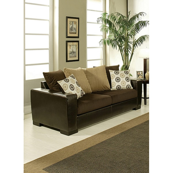 Furniture of America Benosa Micro Velvet Sofa