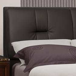 Amble Dark Brown Faux Leather Upholstered Queen-size Bed - Thumbnail 1