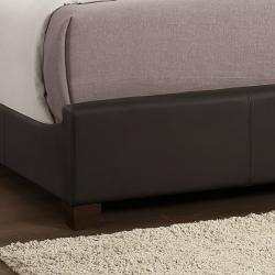 Amble Dark Brown Faux Leather Upholstered Queen-size Bed - Thumbnail 2