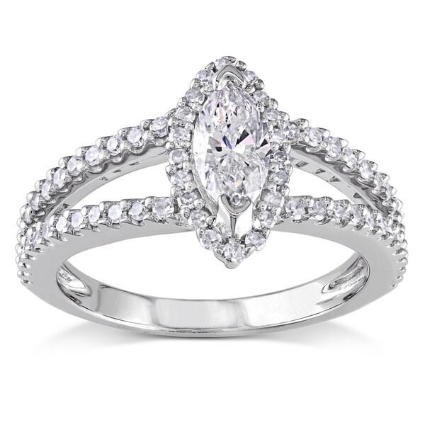 Miadora Signature Collection 14k White Gold 4/5ct TDW Marquise Diamond Ring (G-H, I1-I2)