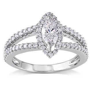 Link to Miadora Signature Collection 14k White Gold 4/5ct TDW Marquise Diamond Ring Similar Items in Wedding Rings