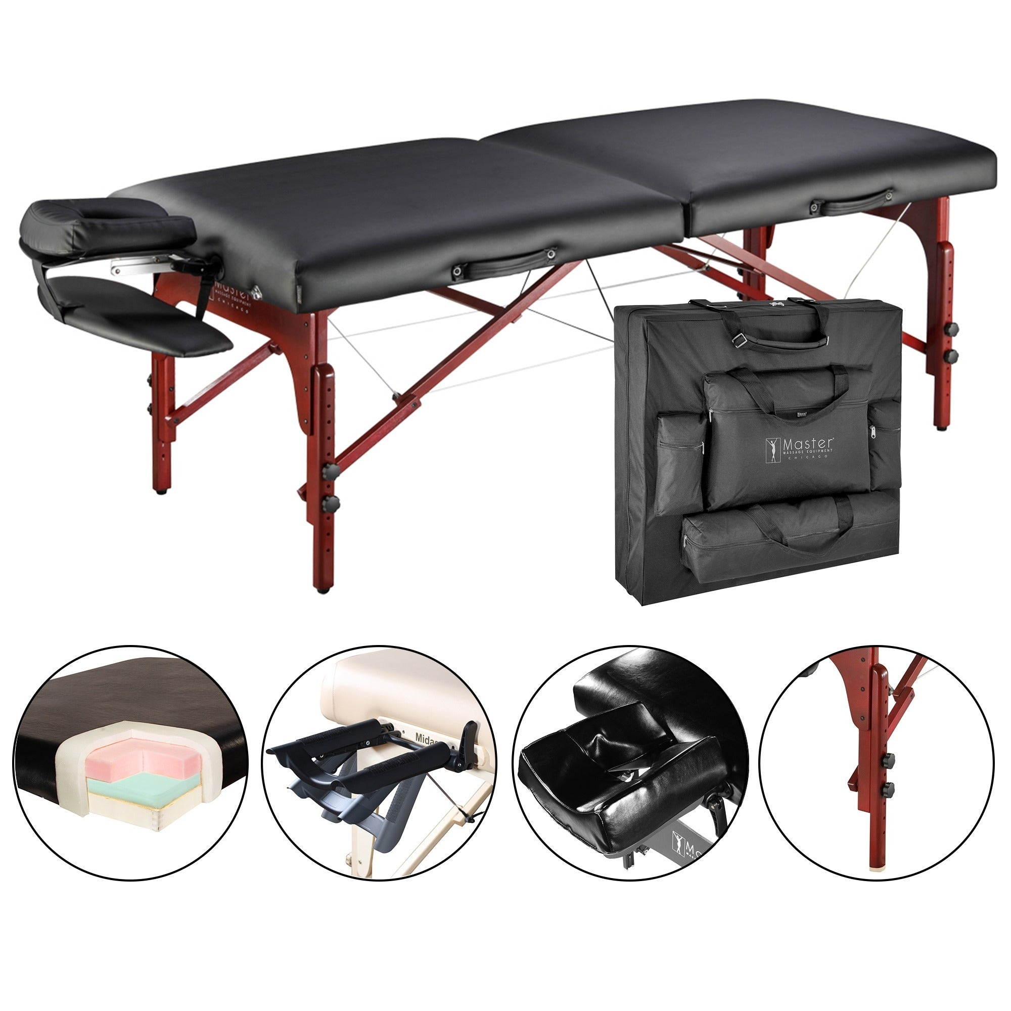 Master Massage Luxurious Montclair Pro 31-inch Memory Foa...