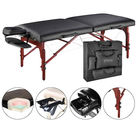 Master Massage Luxurious Montclair Pro 31-inch Memory Foam Massage Table Package