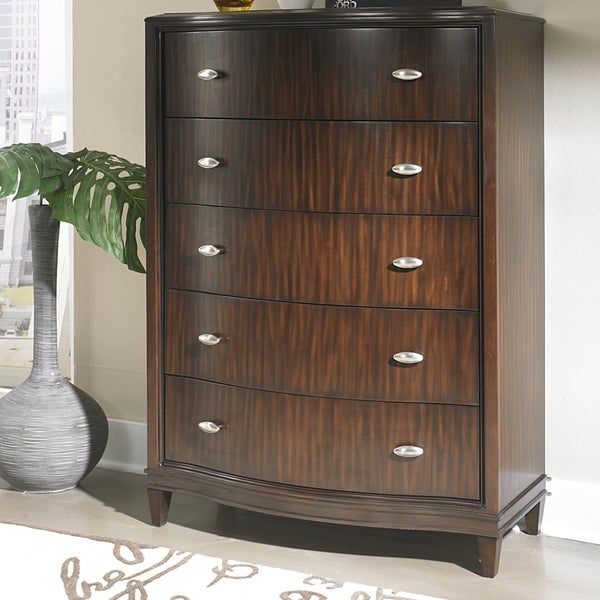TRIBECCA HOME Cumbria Retro Modern Curved Front 5-drawer Chest
