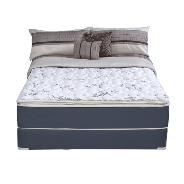 Wolf Sleep Accents Illusion Plush Pillowtop Twin-size Mattress and Foundation Set