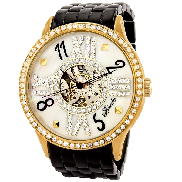 Breda Women's 'Audrey' Goldstone Mechanical Hand-winding Watch