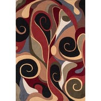 "Graffiti Multi Wool Area Rug - 5'3"" x 7'9"""
