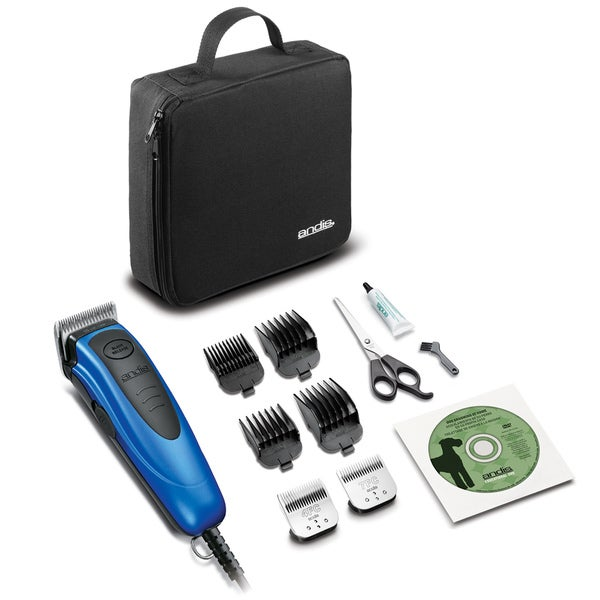 Andis EasyClip Versa Blue Medium-duty 12-piece Dog Clipper Kit