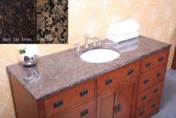Thumbnail 3, Granite Top 60-inch Single Sink Bathroom Vanity. Changes active main hero.