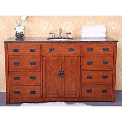 Thumbnail 1, Granite Top 60-inch Single Sink Bathroom Vanity.