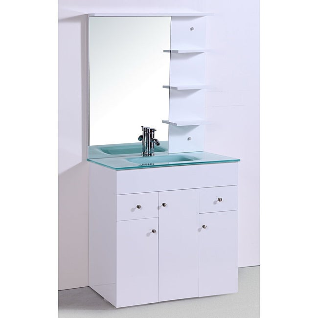 72 inch modern double vessel sink bathroom vanity with tempered glass - Single Floating Bathroom Vanity Myideasbedroom Com