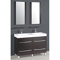Resin Top 48 Inch Double Sink Bathroom Vanity Free