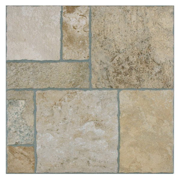 SomerTile 13.5x13.5-inch Eventide Sand Porcelain Floor and Wall Tiles (Set of 11)
