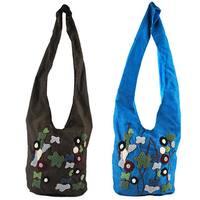 Handmade Emb Floral Shoulder Crossbody Bag (Indonesia)