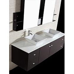 Kokols 72 Inch Double Sink Vanity With Mirror And Faucets Overstock 6737639