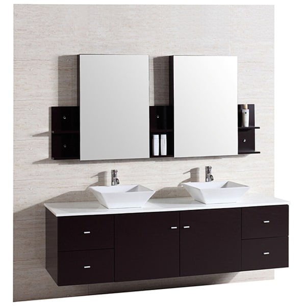 72 inch double sink vanity. kokols 72-inch double sink vanity with mirror and faucets 72 inch b