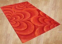 Alliyah Handmade Red New Zealand Blend Wool Rug  (9' x 12') - Thumbnail 1