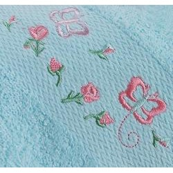 Lucia Minelli Kid's Embroidered Butterfly 4-piece Turkish Towel Set