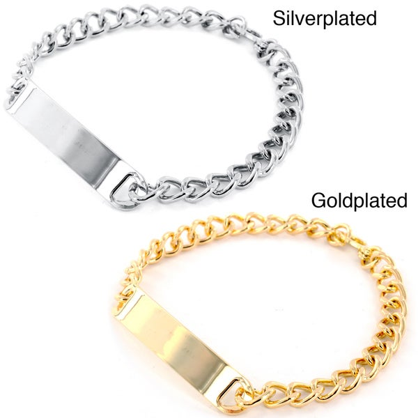 West Coast Jewelry Goldtone/ Silvertone Men's Small ID Bracelet