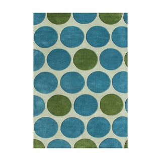 Alliyah Handmade New Zeeland Blend Light Aspen Green Wool Rug (9' x 12')